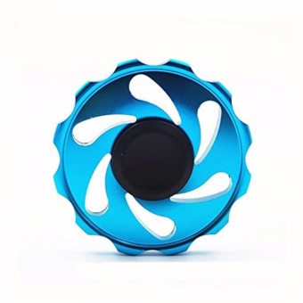 Stainless steel EDC Circular Fidget Spinner (Blue) Price Philippines