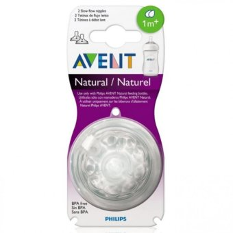 Harga Avent Natural Feeding Bottle Slow Flow Nipple Pack of 2