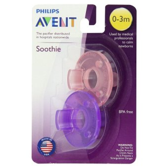 Philips Avent - Soothie Pacifier, Pink/Purple, 0-3 Months, Pack of 2 Price Philippines