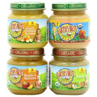 Earth's Best Organic Baby Food Assorted Fruits Variety Pack (4 Jars) Price Philippines