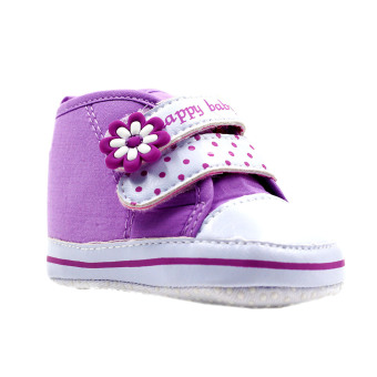 BABY STEPS Happy Baby Dots Baby Girl Shoes (Purple) Price Philippines