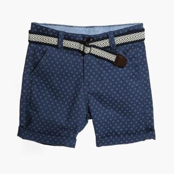 Harga Just Jeans Boys Diamonds Belted Chino Shorts (Blue)