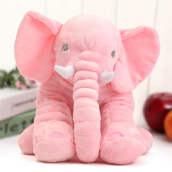 Pink Large Elephant Pillows Cushion Baby Plush Toy Stuffed Animal Kids Gifts - intl Price Philippines