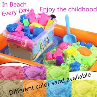 Harga STAR EVER DIY Kinetic Space Sand(Green) In beach every day,enjoy the childhood - intl
