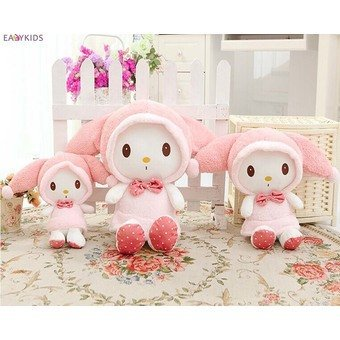 Pink Hat My Melody Cute Rabbit Stuffed Plush Toys Pillow Doll Kid's Birthday Gift Home Decoration kids toy Price Philippines