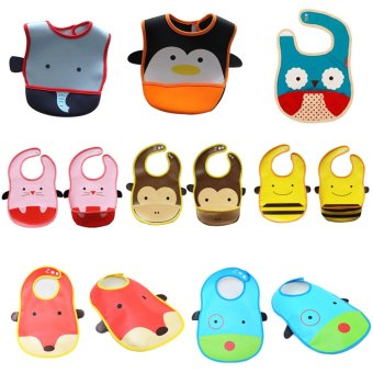 Harga New Baby Infants kids bibs/ baby lunch bibs/ cute towel 3 Layer Waterproof