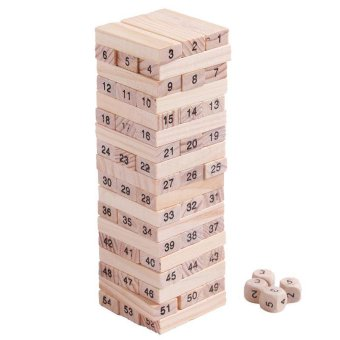 Harga Ai Home 54pcs Blocks 4 Dices Wooden Educational Game Party Family Board Game Wonderful Gift