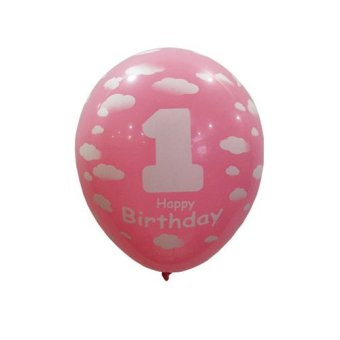 Fang Fang 20pcs Baby 1st First Birthday Ballons Girl Boy Printed Number 1 Party Decoration (Pink) Price Philippines