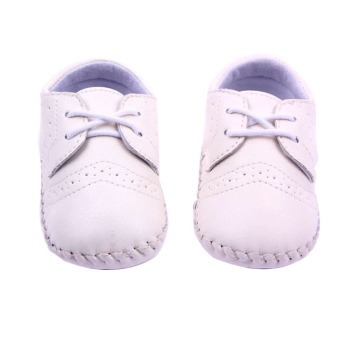 New Baby Shoes Infants Boy Handmade Stitch Pu Shoes Babe Slip-on First Walkers Kids Footwear White Price Philippines