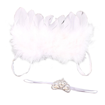 Baby Girls Angel Wings Wing Set Feather Newborn Photography Props Price Philippines