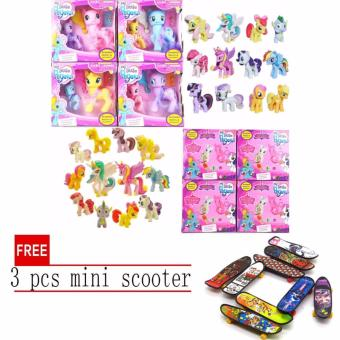Hasbro My Little Pony Explore Equestria Fluttershy Action Friends 2pcs set with free 3 pcs mini scooter Price Philippines