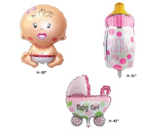 Harga Its a Girl Set of 3 Foil Balloons