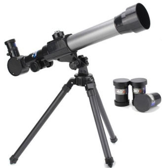 Harga children Astronomical telescope for Christmas and birthday gifts Black - intl