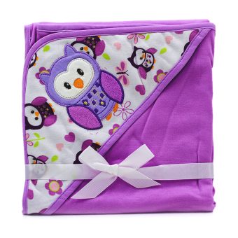 BABY STEPS Owl Baby Blanket (Purple) Price Philippines