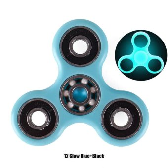 BUYINCOINS Tri-Spinner Fidget Toy Ceramic Bearing EDC Hand Spinner Desk Finger Focus Toys #12 - intl Price Philippines