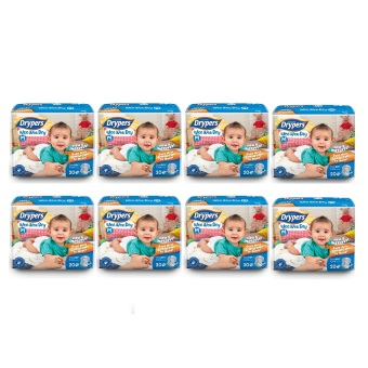 Harga Drypers Wee Wee Dry Diapers Regular Pack Medium 20's Pack of 8