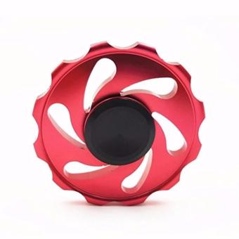 Stainless steel EDC Circular Fidget Spinner (Red) Price Philippines