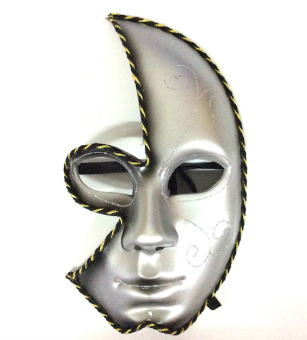 Partyline Half Face Costume Party Masquerade Mask (Black) Price Philippines