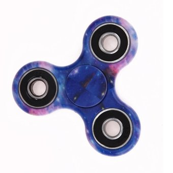 Colorful Tri-Spinner Fidget Toys EDC Sensory Hand Fidget Spinners Toy(Multicolor) - intl Price Philippines