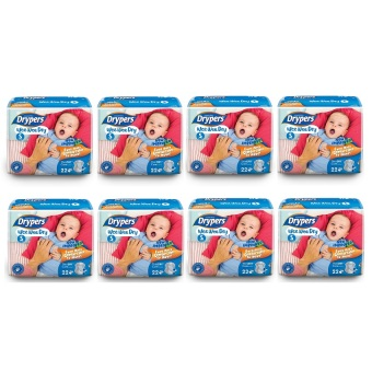 Harga Drypers Wee Wee Dry Diapers Regular Pack Small 22's Pack of 8