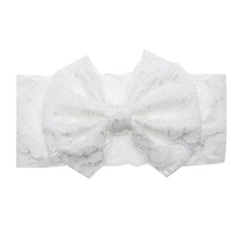 Harga Baby Hair Accessories Cute Bow Hairpin Photography Props(White) - intl