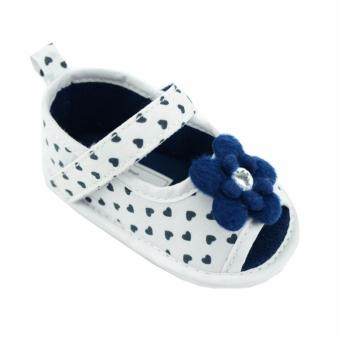 Harga Nursery Time Baby Girl Shoes (Navy) For 6 to 12 Months Old