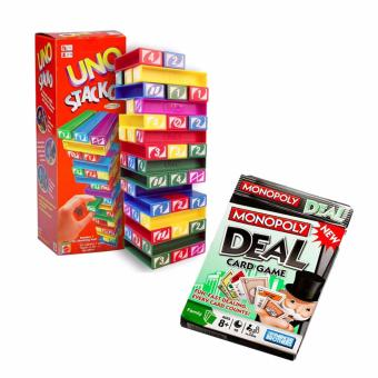 Harga Monopoly Deal Card Game And Uno Stacko