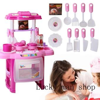 Harga lazada and USA best selling Kitchen Set (Pink)