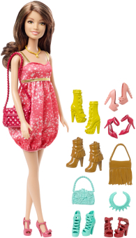 Barbie Brunette Doll and Shoes Gift Set Price Philippines