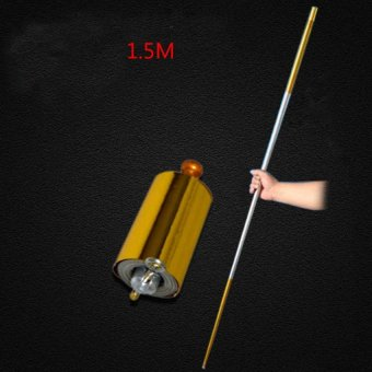 Harga 1pcs 150CM length golden Silver cudgel metal Appearing Cane magic tricks for professional magician stage street magie illusion - intl