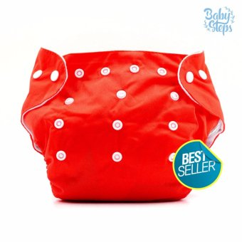 BABY STEPS Cloth Baby Diapers (Red ) Price Philippines