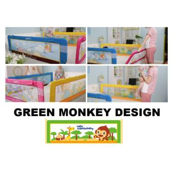 Harga Fortress Baby Safety Mambo Bed Rail Green Monkey (1.5m EMBEDDED)