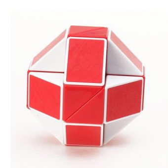 Harga Magic Snake Rubik's Cube Magic Cube Educational Toys ( White + Red )