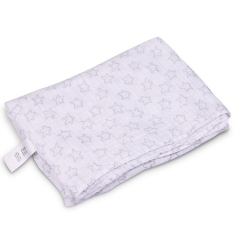Star Baby Swaddling Blanket Muslin 100% Cotton Swaddle Towel 120x120cm - Intl Price Philippines