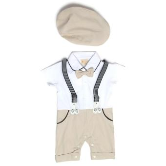 Harga Gentlemen Suit Romper Beige for 6 to 9 Months Old