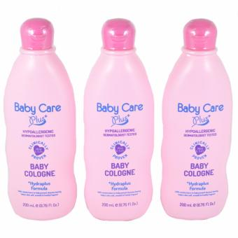 Baby Care Plus Pink Baby Cologne 200mL with Hydraplus Formula Set of 3 200mL Price Philippines
