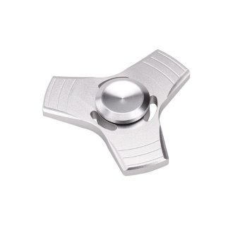 EDC Fidget Spinner High Speed Stainless Steel Bearing ADHD Focus Anxiety Toys Silver - intl(Silver) Price Philippines