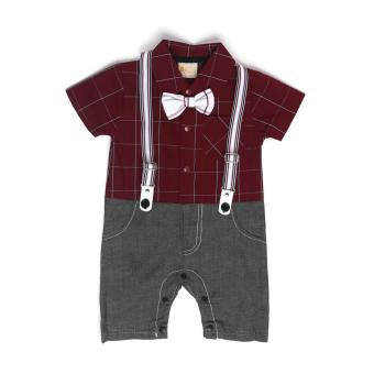 Harga Gentlemen Suit Romper Red for 9 to 12 Months Old