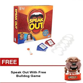 Harga Speak Out Mouthpiece Board Game Party Challenge Friends Game With Free Bulldog Game