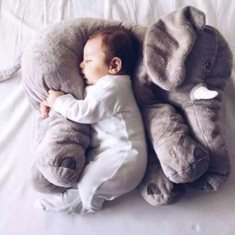 Sunking Large Baby Kids Toddler Stuffed Elephant Plush Pillow Cool Big Cushion Soft Nursery Toy Doll Best Girls Children Gifts (Gray) - intl Price Philippines