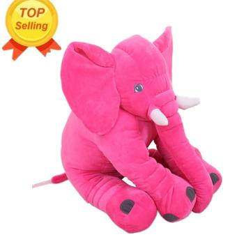 Leegoal Baby Kids Toddler Stuffed Elephant Plush Pillow Cushion Soft Nursery Toy Doll for Girls Children Gifts(Rose Red) - intl Price Philippines