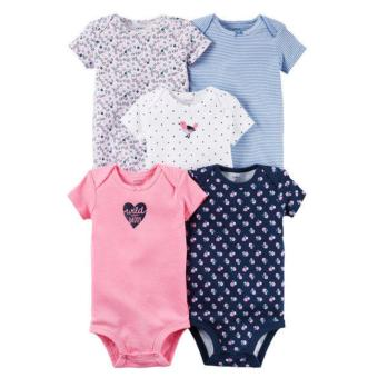 Harga Carter's 5-piece Short Sleeves Bodysuit (Girls)