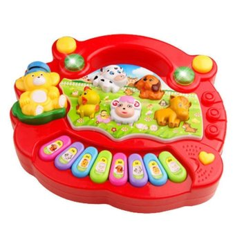 Harga Musical Educational Animal Farm Piano Developmental Music Toy for Baby Kids