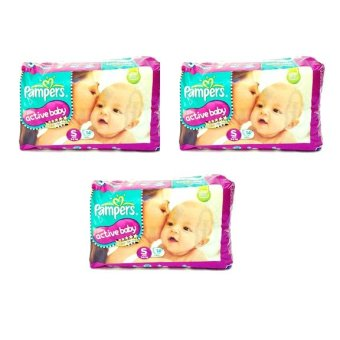 Harga Pampers Active Baby Small (S) 14's Pack of 3