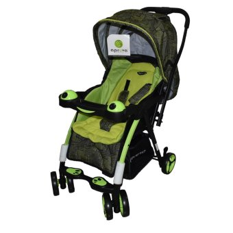 Harga Apruva Folding Deluxe Baby Stroller with Reversible Handle, Green
