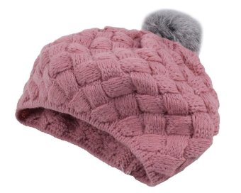 hoongos Baby Infant Knit Beanie Crochet Rib Pom Pom Warm Hat Cap , Pink - intl Price Philippines