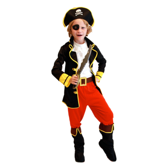 Harga EOZY Children's Halloween Costumes Cosplay Pirates Costumes For Boys Captain Jack Children Role Playing Children Party Clothes (Black) - Intl