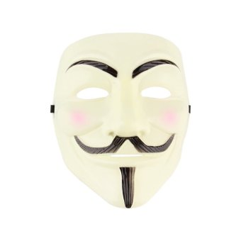Harga ERA V for Vendetta Anonymous Movie Adult Men Mask Halloween Costume Cool Yellow