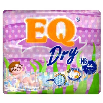 Harga EQ Dry Diaper Econo Pack NB 44's
