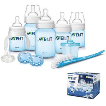 PHILIPS AVENT CLASSIC NEWBORN / INFANT STARTER GIFT SET BPA FREE (clear / blue ) Price Philippines